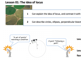 Screenshot of 10 Lessons on Locus and Parabola