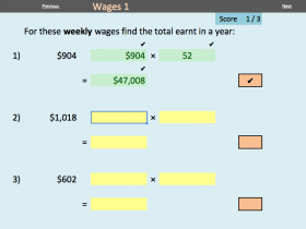 Screenshot of Consumer Arithmetic - Electronic Worksheets