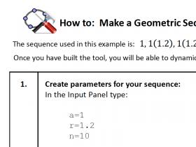 Screenshot of Geogebra HowTo: Build a Geometric Sequence explorer