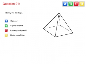 Screenshot of 3D Shapes Quiz for SRN