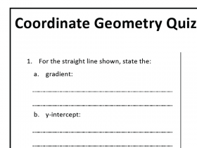 Screenshot of Coordinate Geometry Quizzes