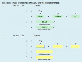 Screenshot of Credit Card Interest