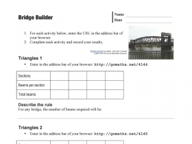 Screenshot of Bridge Builder - Worksheet
