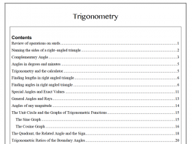 Screenshot of 2U Trigonometry Notes