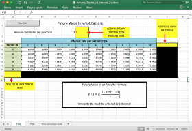 Screenshot of Annuity Tables