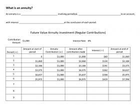 Screenshot of What is an annuity?