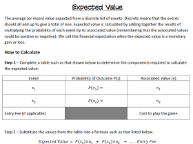 Screenshot of Expected Value