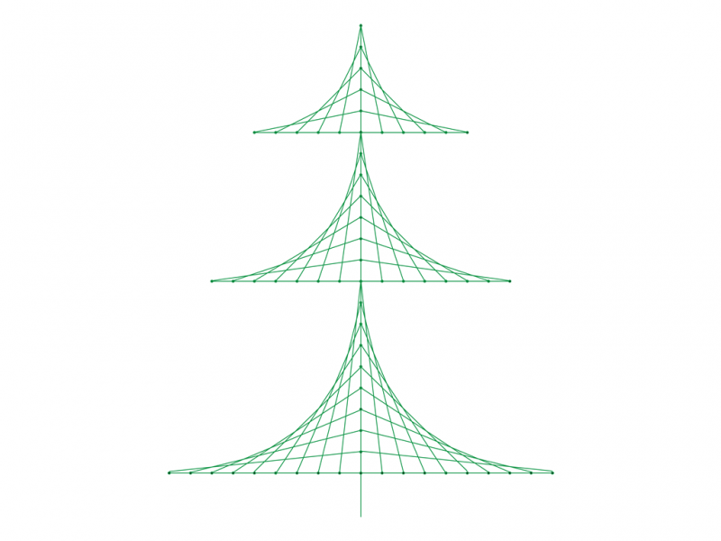 Christmas Tree Line Design preview