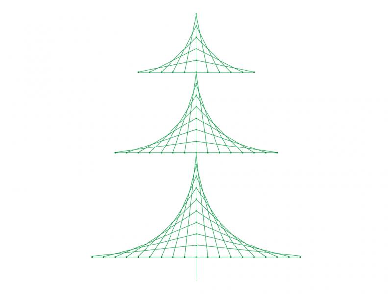 Christmas Tree Line Design preview