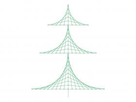 Screenshot of Christmas Tree Line Design