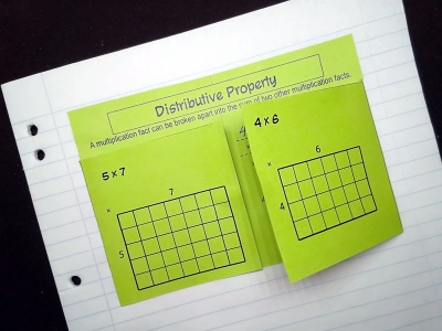 Preview of Distributive Law Foldable
