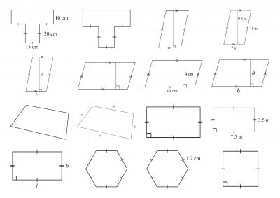 Screenshot of Perimeter and Area - diagram library
