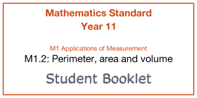 Preview of Student booklet - M1.2 Perimeter, area and volume