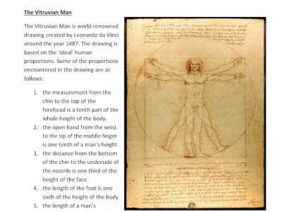 Preview of Ratios Investigation - The Vitruvian Man