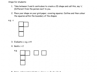 Preview of Introduction to Algebra – Building Shapes