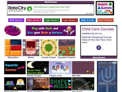 Screenshot of Math Playground - Math Games