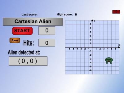 Screenshot of Cartesian Alien
