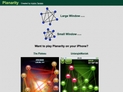 Screenshot of Planarity