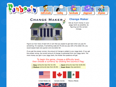 Screenshot of Change Maker