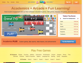 Screenshot of Arcademic Skill Builders