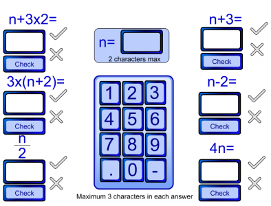 Screenshot of Algebra Substitution