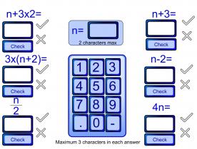 Screenshot of Algebra Substitution