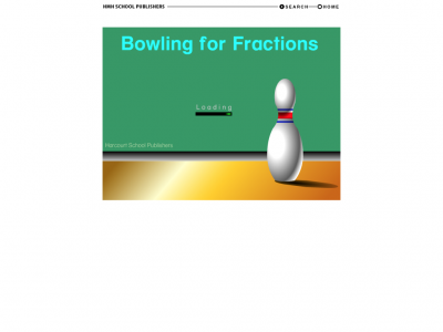 Screenshot of Bowling from Fractions