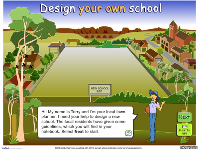 Screenshot of Design your own school