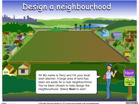 Screenshot of Design a neighbourhood