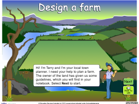Screenshot of Design a farm