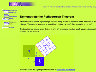 Screenshot of Demonstrate the Pythagorean Theorem