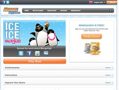 Screenshot of Ice Ice Maybe - Mangahigh