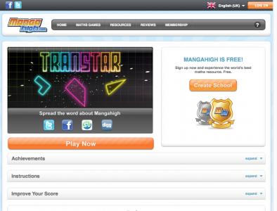 Screenshot of Transtar - Mangahigh