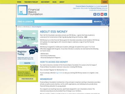 Screenshot of ESSI Money Game