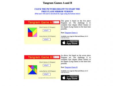 Screenshot of Tangram Games
