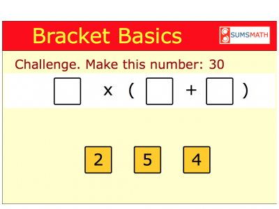 Screenshot of Bracket Basics