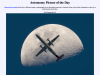 Screenshot of Airplane infront of the moon