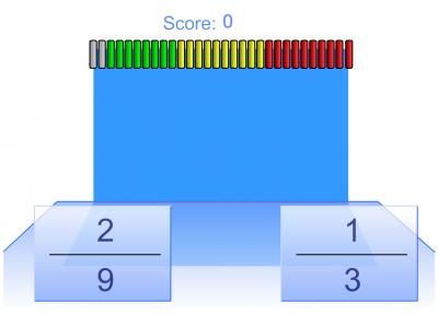Screenshot of Fraction Comparison