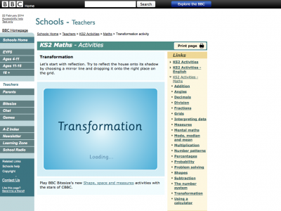 Screenshot of Transformation