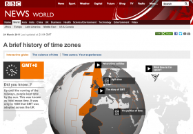 Screenshot of A brief history of time zones