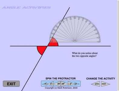 Screenshot of Angle Activities