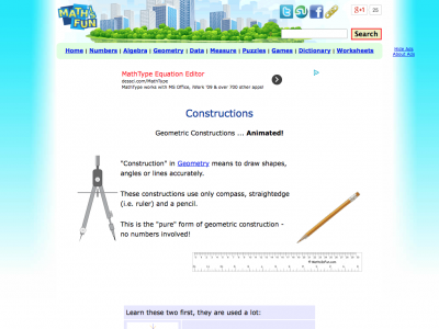 Screenshot of Geometric Constructions