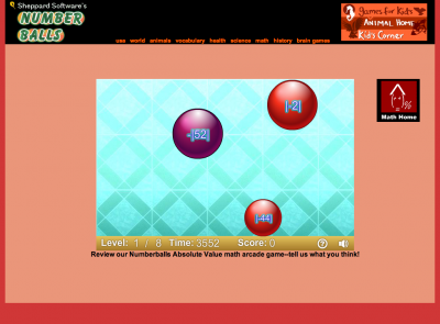 Screenshot of Absolute Value game