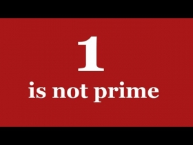 Screenshot of 1 and Prime Numbers - Numberphile
