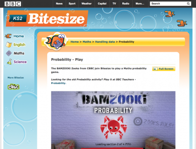 Screenshot of BAMZOOKi Zooks - Probability
