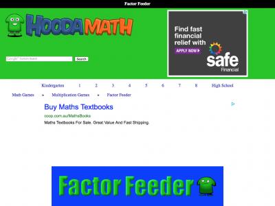 Screenshot of Factor Feeder
