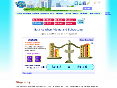 Screenshot of Balance when Adding and Subtracting