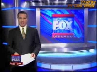 Screenshot of Fox Chicago's shows fuzzy math GOP candidate support pie chart