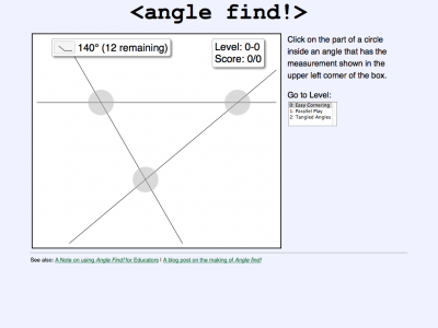 Screenshot of angle find!