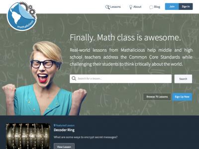 Screenshot of Mathalicious
